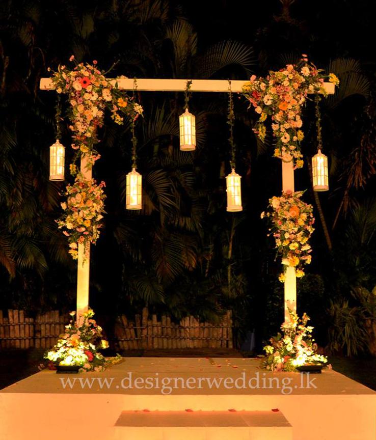 Elegant Garden Theme Designer Wedding Sri Lanka